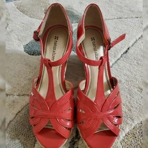 NWOT Naturalizer Red Wedges